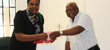 Dr Okuli William Swai Briefs NFTRC Staff